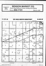 Six Mile Grove T121N-R40W, Swift County 1986 Published by Farm and Home Publishers, LTD